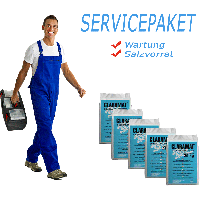 Service package Duplex (service + 5 bags of salt)