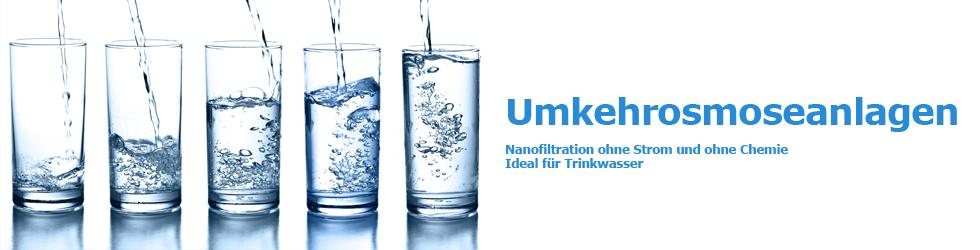 Nanofiltration ohne Strom und ohne Chemie - Ideal für Trinkwasser
