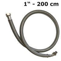Reinforced hose/ flexible hose 1'' (200 cm) 2 x union nuts for drinking water
